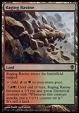 Magic the Gathering Worldwake Single Raging Ravine FOIL - SLIGHT PLAY (SP)
