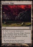 Magic the Gathering Worldwake Single Tectonic Edge FOIL - SLIGHT PLAY (SP)