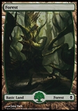 Magic the Gathering Zendikar Single Basic Forest (247) FOIL - NEAR MINT (NM)