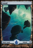 Magic the Gathering Zendikar Single Island #234 FOIL - SLIGHT PLAY (SP)