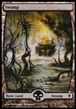 Magic the Gathering Zendikar Single Basic Swamp (240) FOIL - NEAR MINT (NM)