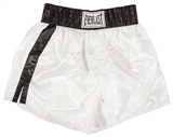 "Muhammad Ali Autographed White Everlast Boxing Trunks w/""Cassius Clay"" Inscription"