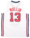 Chris Mullin Autographed USA Basketball Jersey with Dream Team inscrip (Leaf)