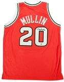 Chris Mullin Autographed St John's University Basketball Jersey (Leaf)