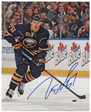 Nikita Zadorov Autographed Buffalo Sabres Blue 8x10 Hockey Photo