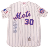 Nolan Ryan Autographed New York Mets Limited Career Stat Cooperstown Jersey (Steiner)