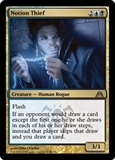 Magic the Gathering Dragon's Maze Single Notion Thief FOIL