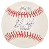 Nolan Ryan Autographed Rawlings AL MLB Baseball with inscription 5000 K