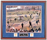 1969 New York Mets Autographed and Framed 16x20 Photo (JSA) 21 signatures