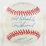Allie Reynolds - Tom Henrich - Phil Rizzuto Autographed Official American League Baseball Nicknames