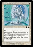 Magic the Gathering Urza's Legacy Single Opal Champion Foil