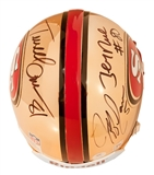 Jerry Rice, Terrell Owens, and Jeff Garcia Autographed 49ers Chrome Mini Helmet (GTSM)