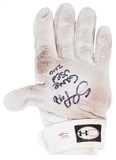 Pablo Sandoval Autographed and Game Used Batting Glove with Inscription