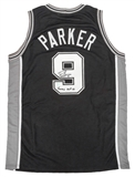 Tony Parker Autographed San Antonio Spurs Black Basketball Jersey (Hollywood)