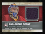 2012/13 In the Game Between The Pipes Big League Debut Jerseys Silver #BL16 Ondrej Pavelec* /100