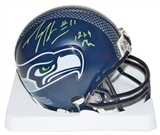 "Percy Harvin Autographed Seattle Seahawks Mini Helmet w/""12th Man"" Insc (GTSM & Harvin Holo)"