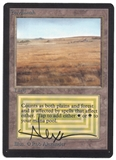 Magic the Gathering Beta Single Savannah SIGNED BY ROB ALEXANDER - NEAR MINT (NM)
