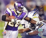 "Adrian Peterson Autographed Minnesota Vikings 8x10 Photo ""Shove"""