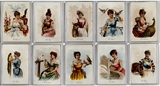 "1891 N194 Kimball ""Household Pets"" Near Complete Set (VG-EX)"