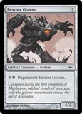 Magic the Gathering Mirrodin Single Pewter Golem FOIL