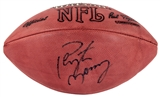 Peyton Manning Autographed Denver Broncos Wilson Football Blue Signature (Press Pass)