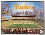 Artissimo Pittsburgh Steelers Glory 22x28 Canvas