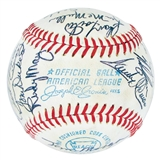 1972 California Angels Autographed Team Signed Baseball (JSA COA) 23 Signatures (A)