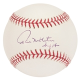 "Paul Molitor Autographed Milwaukee Brewers Official MLB Baseball w/""HOF 04"" Insc (PSA)"
