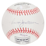 Reggie Jackson Autographed New York Yankees Retirement MLB Baseball #22/250 (Steiner)