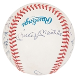 Hall of Fame Autographed Rawlings American League MLB Baseball (PSA) 13 signatures