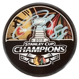 Patrick Kane Autographed Chicago Blackhawks 2013 Stanley Cup Official Puck (Frameworth)