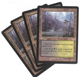 Magic the Gathering Apocalypse PLAYSET Llanowar Wastes X4 - SLIGHT / MODERATE PLAY