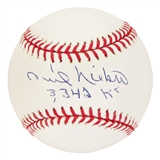 "Phil Niekro Autographed Atlanta Braves Official MLB Baseball w/""3342 K's"" Ins (Steiner & MLB)"