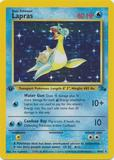 Pokemon Fossil 1st Edition Single Lapras 10 - SLIGHT PLAY (SP)