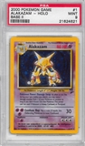 Pokemon Base Set 2 Single Alakazam 1/130 - PSA 9 - *21624621*