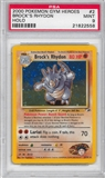 Pokemon Gym Heroes Single Brock's Rhydon 2/132 - PSA 9 - *21822558*