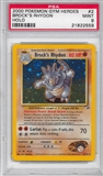 Pokemon Gym Heroes Single Brock's Rhydon 2/132 - PSA 9 - *21822559*