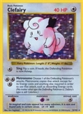 Pokemon Base Set 1 Single Clefairy 5/102 - MODERATE PLAY (MP)