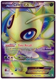 Pokemon BW Boundaries Crossed Single Celebi EX 141 (FULL ART) - SLIGHT PLAY (SP)