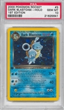 Pokemon Team Rocket 1st Edition Single Dark Blastoise 3/82 - PSA 10 - *21625641*