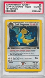 Pokemon Team Rocket 1st Edition Single Dark Dragonite 5/82 - PSA 10 - *21625643*