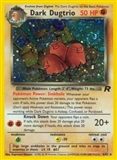 Pokemon Team Rocket Single Dark Dugtrio 6/82 - MODERATE PLAY (MP)