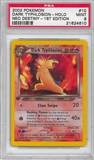 Pokemon Neo Destiny 1st Edition Single Dark Typhlosion 10/105 - PSA 9 - *21624610*