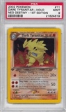 Pokemon Neo Destiny 1st Edition Single Dark Tyranitar 11/105 - PSA 9 - *21624619*