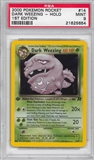 Pokemon Team Rocket 1st Edition Single Dark Weezing 14/82 - PSA 9 - *21625654*