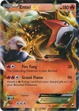 Pokemon BW Dark Explorers Single Entei EX 13 - SLIGHT PLAY (SP)