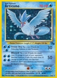 Pokemon Fossil Single Articuno 2/62 - MODERATE PLAY (MP)