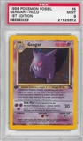 Pokemon Fossil 1st Edition Single Gengar 5/62 - PSA 9 - *21625672*
