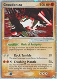 Pokemon EX Hidden Legends Single Groudon EX 93/101 Ultra Rare - SLIGHT PLAY (SP)