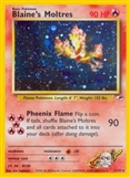 Pokemon Gym Heroes Single Blaine's Moltres 1/132 - HEAVY PLAY (HP)